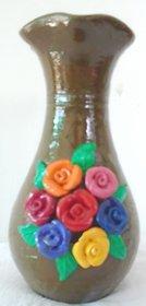 rose flower multi colour pot