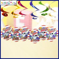 Funcart Pirate Party Theme Swirl Decorations 6 Pcs/Pack