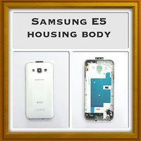 New Full Housing Body Panel - For Samsung Galaxy E5 - White Color