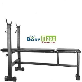 Body Maxx Multi Purpose Bench 3 in 1 (Incline + Decline + Flat) Foldable