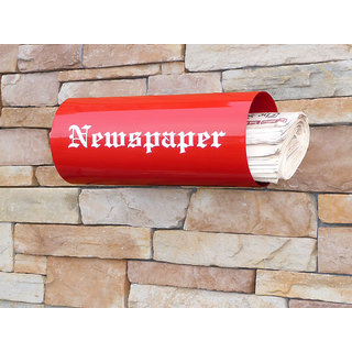 The New Look Round Steel News paper  Wall Shelf
