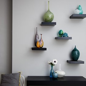 The New Look set of 5 cube wooden wall shelf