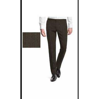 Kundan Cotlook Brown Unstitched Trouser Fabrics