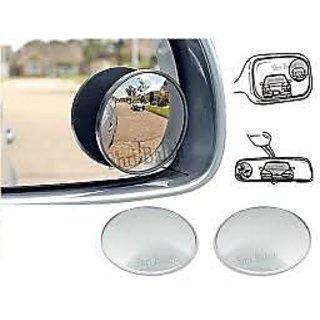 AutoSun - Car Blind Spot Convex  Rear View Mirror Chrome Corners