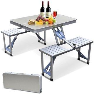 Aluminium Picnic Table Folding With Umbrella