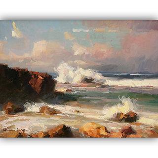 Vitalwalls Landscape Painting Canvas Art Print (Landscape-157-F-45Cm)