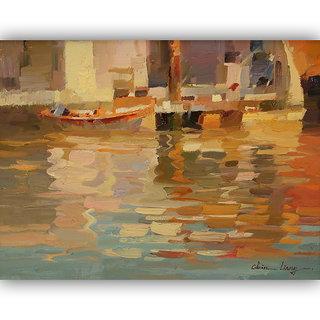 Vitalwalls Landscape Painting Canvas Art Print (Landscape-158-F-45Cm)