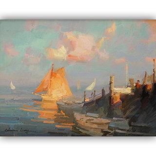 Vitalwalls Landscape Painting Canvas Art Print (Landscape-159-60Cm)