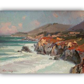 Vitalwalls Landscape Painting Canvas Art Print (Landscape-160-F-45Cm)