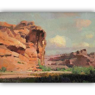 Vitalwalls Landscape Painting Canvas Art Print (Landscape-161-F-60Cm)