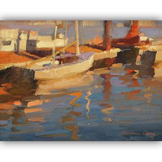 Vitalwalls Landscape Painting Canvas Art Print (Landscape-162-F-45Cm)