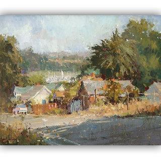 Vitalwalls Landscape Painting Canvas Art Print (Landscape-229-F-45Cm)