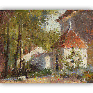 Vitalwalls Landscape Painting Canvas Art Print (Landscape-230-F-45Cm)