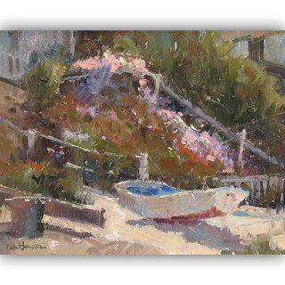 Vitalwalls Landscape Painting Canvas Art Print (Landscape-232-F-45Cm)