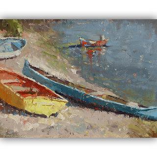 Vitalwalls Landscape Painting Canvas Art Print (Landscape-234-F-60Cm)