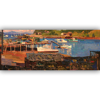 Vitalwalls Landscape Painting Canvas Art Print (Landscape-295-45Cm)