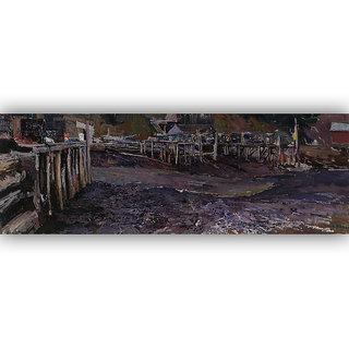 Vitalwalls Landscape Painting Canvas Art Print (Landscape-321-30Cm)