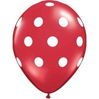 Funcart Red Polka Dots Balloons (Pack Of 5)