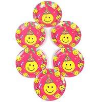 Funcart Smiley Theme Party 7 Disposable Paper Plate (6 Pcs / Pack)