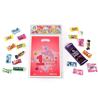 Funcart Sweet At One Princess Theme Loot Bag (6 Pcs/Pack)