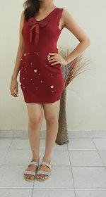 Scarlett Boutique Woolen Short Party Wear Dress