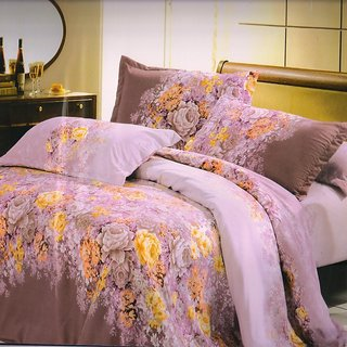 Welhouse India blossom flowers single bed sheet with 1 pillow cover