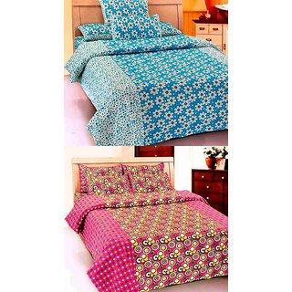 K Decor set of two 100 cotton double bedsheet(JL-011)
