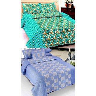 K Decor set of two 100 cotton double bedsheet(JL-012)