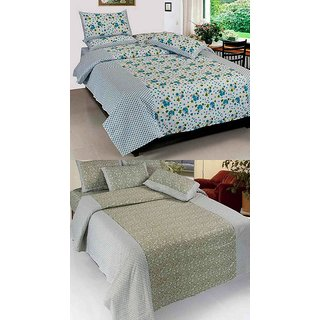 K Decor set of two 100 cotton double bedsheet(JL-014)