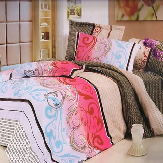 Welhouse India Natural colors Traditional single bed sheet with 1 pillow cover
