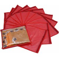 Fashion Bizz Red Non Wowen Saree Cover Set of 12