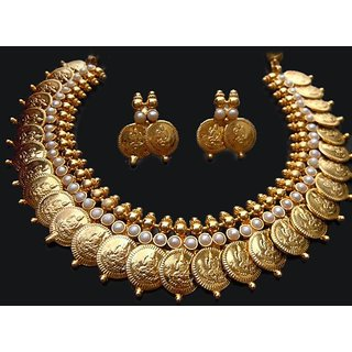 Divya Tradition Temple Coin Jewellery Set