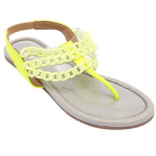 Splash Women's White & Yellow Sandals