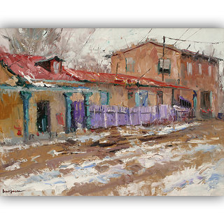 Vitalwalls Landscape Painting Canvas Art Print(Landscape-198-45Cm)
