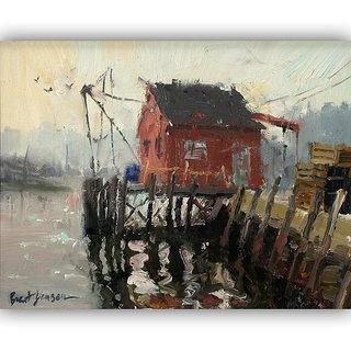 Vitalwalls Landscape Canvas Art Print On Wooden Frame (Landscape-202-F-30Cm)