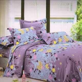 Welhouse India Traditional Flower single bed sheet with 1 pillow cover