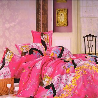 Welhouse India Love U Forever single bed sheet with 1 pillow cover