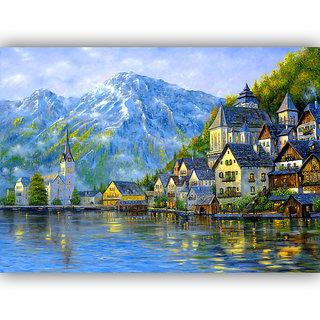 Vitalwalls Landscape Canvas Art Print On Wooden Frame (Landscape-222-F-30Cm)