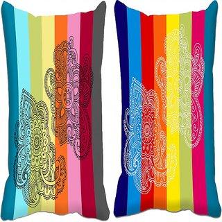 Mesleep Dual Combo 2Pc Digitally Printed Cushion Cover