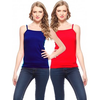 Friskers Women Cotton Camisole Pack of 2