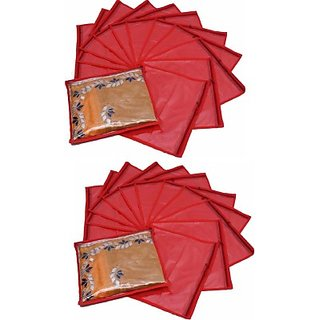 Fashion Bizz Regular Red Saree Cover 24 Pcs Combo