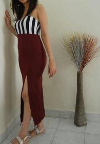 Scarlett Boutique Tube Slit Gown Ankle Length