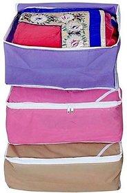 Fashion Bizz Regular Multi Saree Covers (3-in-1 Combo)