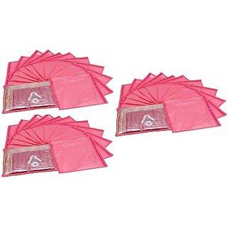 Fashion Bizz Regular Pink Saree Cover 36 Pcs Combo