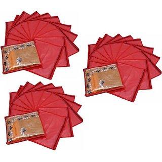 Fashion Bizz Regular Red Saree Cover 36 Pcs Combo