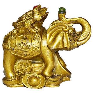Om Vastu Feng Shui Money Frog On Elephant