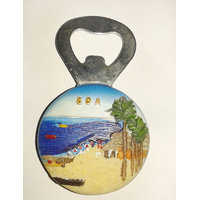 Goa Hand Made Souvenir Magnet Bottle Opener - Round