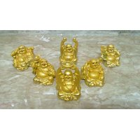 Set Of 6 Laughing Buddha In Different Positions