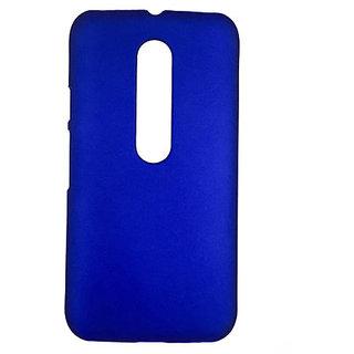 Mobishopclick Hard Back Case Cover For Motorola G3 3rd Gen (Blue)