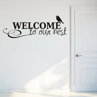 Walltola PVC Multiclor Wall Stickers Welcome To Our Nest (75X30 Cm) (No. Of Pieces 1)